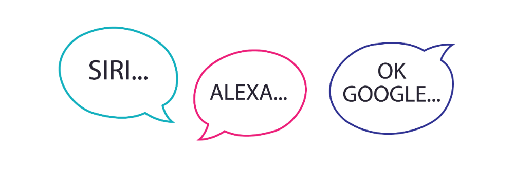 Chatbots including Siri, Alexa and OK Google