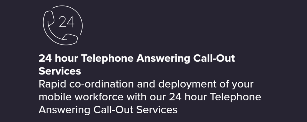 24 Hour Telephone Answering Call-Our Services