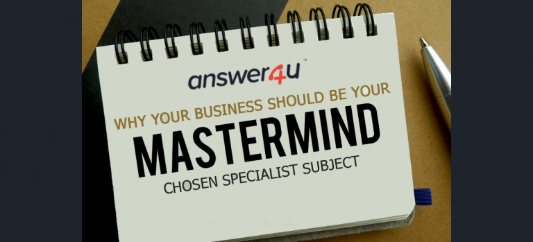 Why Your Business Should Be a 'Mastermind' Chosen Specialist Subject